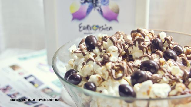 eurovisión 2013 - palomitas con toffe, chocolate y conguitos