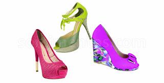 sapatos coloridos moda 2013