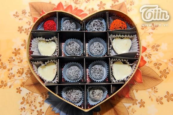 Cách làm Chocolate Valentine đẹp nhiều loại nhân