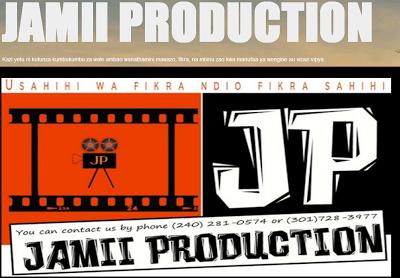 Bofya banner hapa chini kutembelea blogu ya Jamii Production