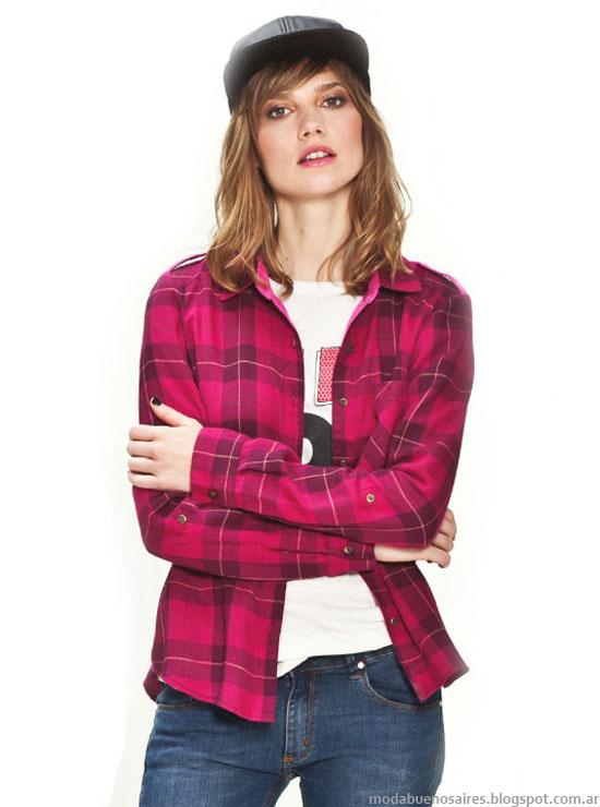 Asterisco otoño invierno 2014 camisas a cuadros de mujer invierno 2014.