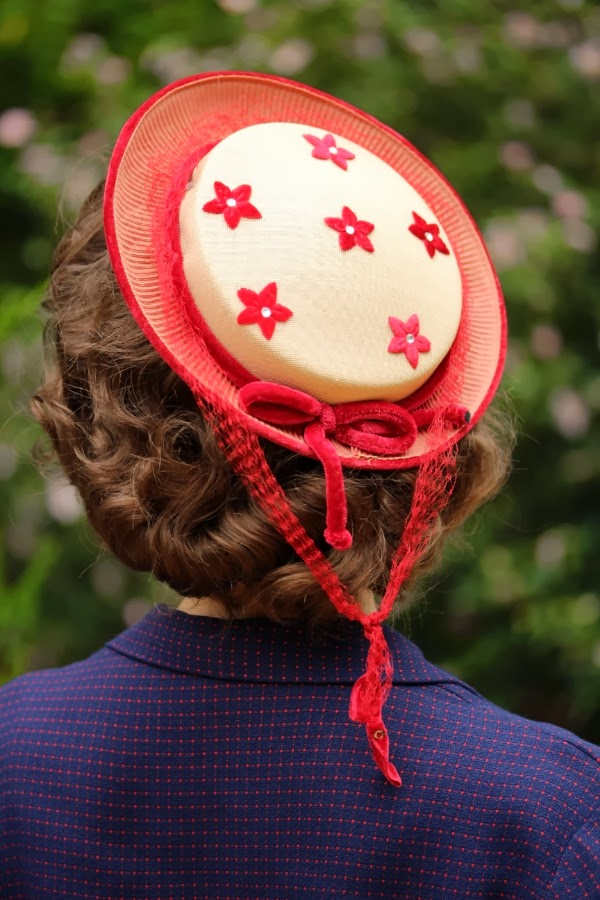 1950s Hat Detail #vintage #hat #1950s #1960s #accessory