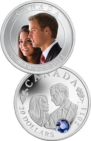 royal wedding stamps 2011. Royal Canadian Mint