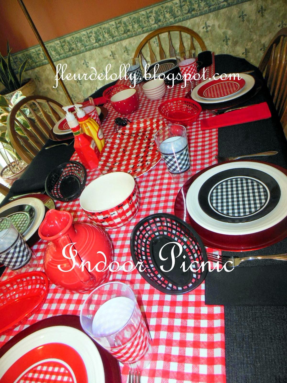 Fleur De Lolly Indoor Picnic Table Setting