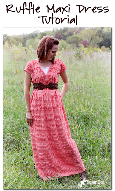 Ruffled Maxi Dress Tutorial