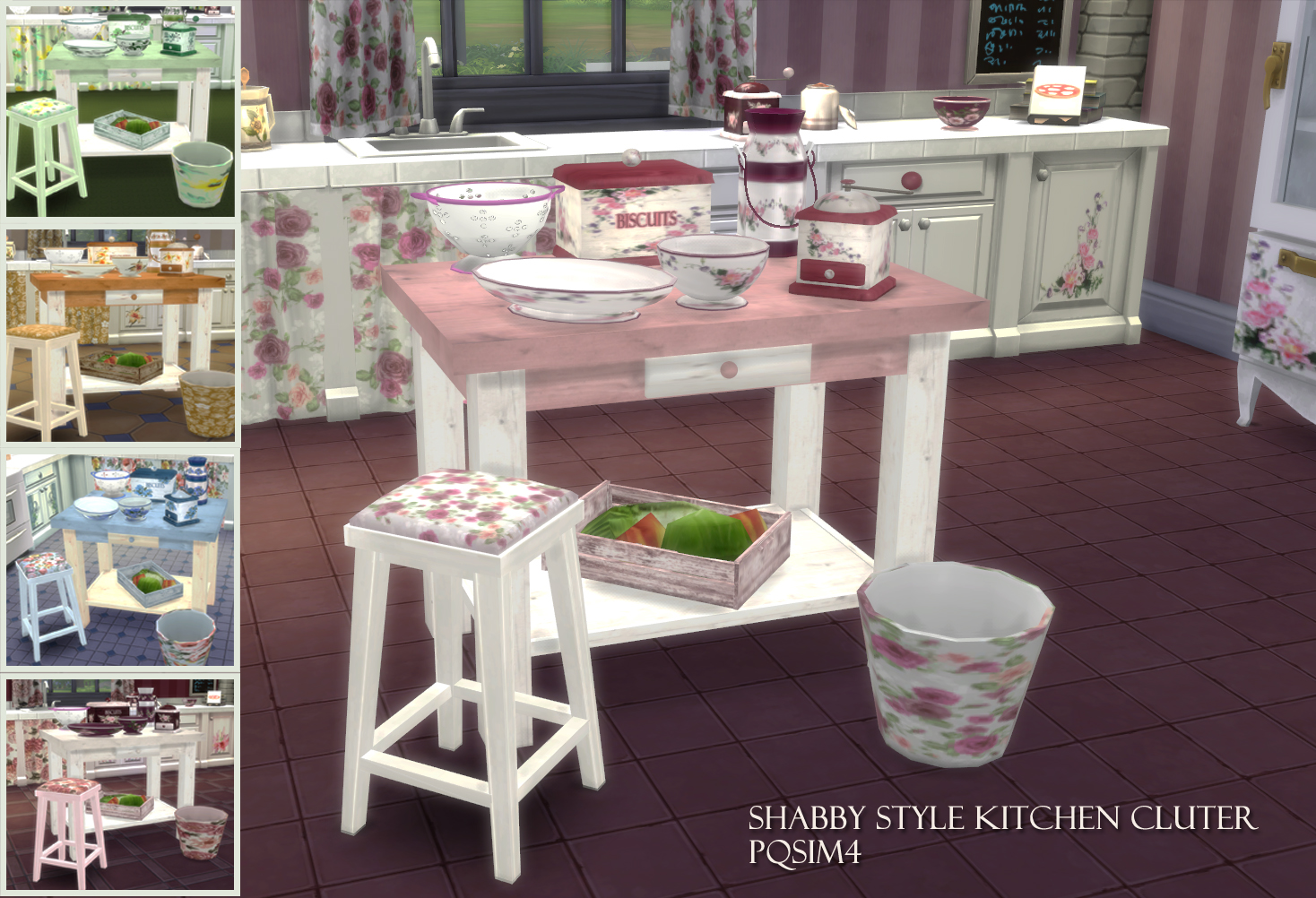 my sims 4 blog shabby style kitchen clutter by pqsim4. Black Bedroom Furniture Sets. Home Design Ideas