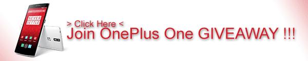 OnePlus One Giveaway GizChina