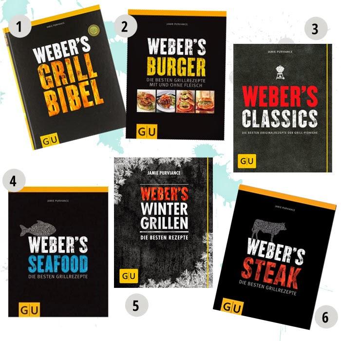 Buchempfehlungen vom amerikanischen Grillexperten Jamie Purviance: Weber's Grillbibel Weber's Burger Weber's Classics Weber's Seafood Weber's Wintergrillen Weber's Steak