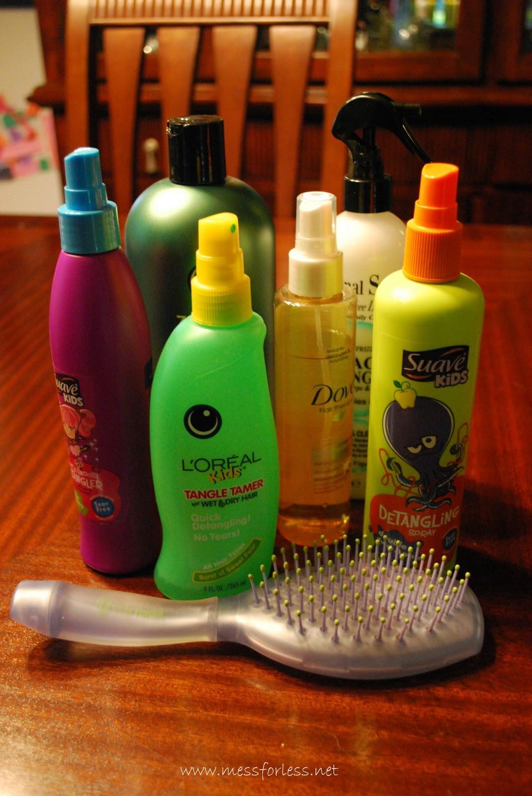 get rid of hair tangles plus a recipe for hair detangler. Black Bedroom Furniture Sets. Home Design Ideas