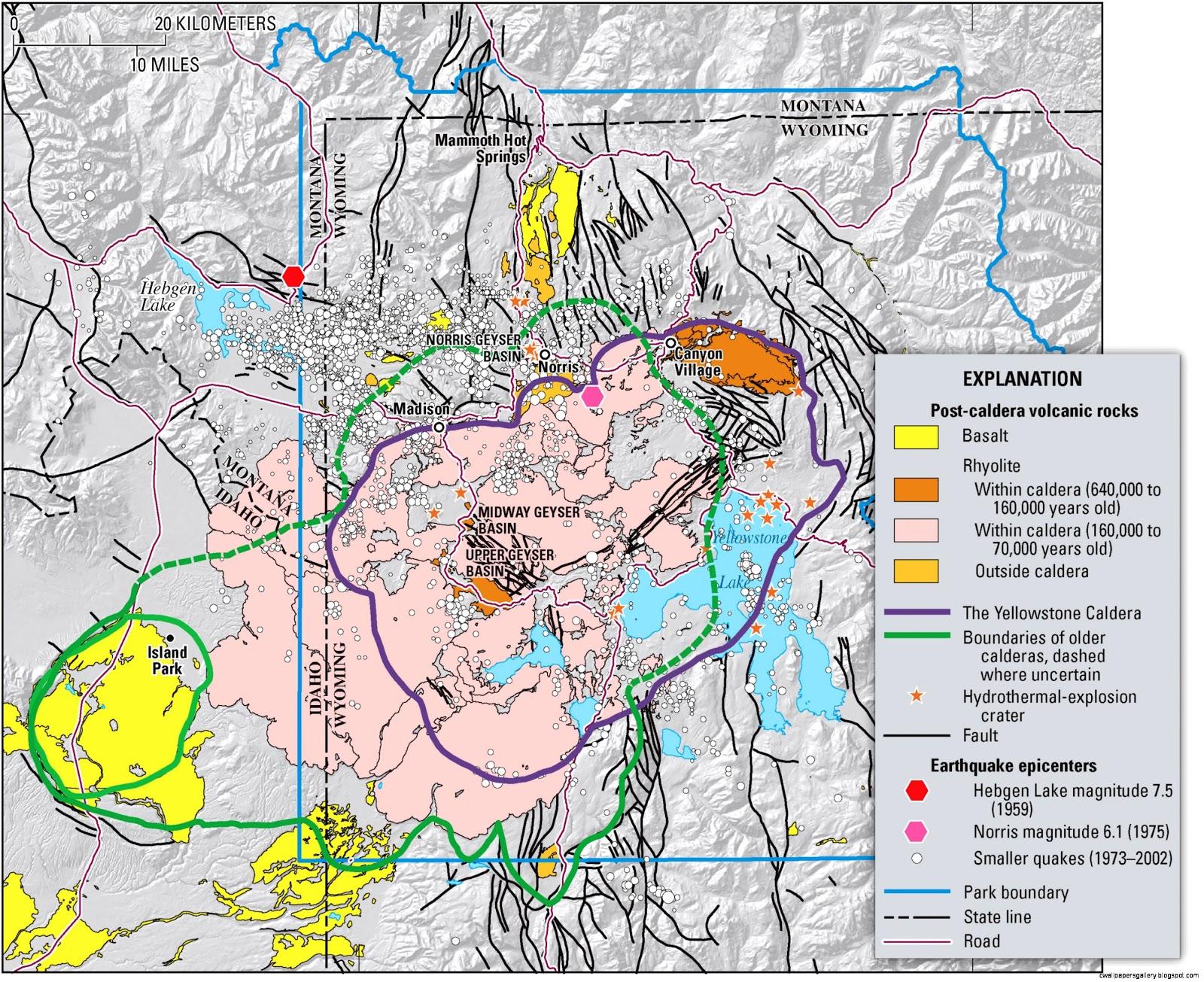 Yellowstone Caldera Map