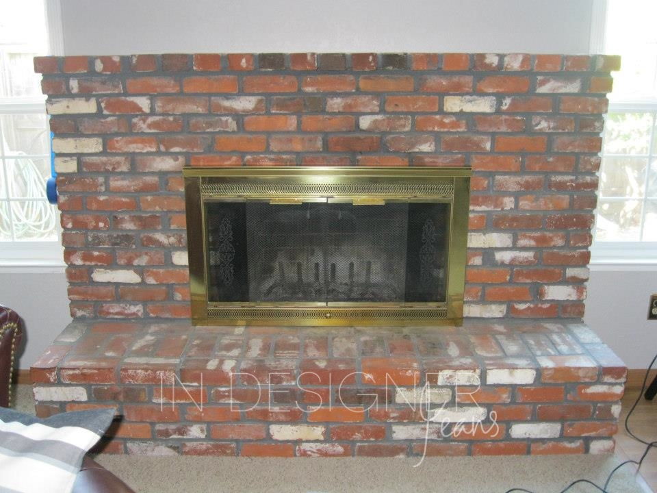 In Designer Jeans Brick Fireplace Makeover