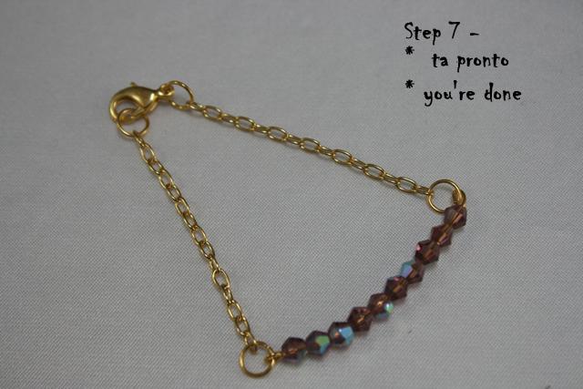 Completed DIY Delicate Bracelet
