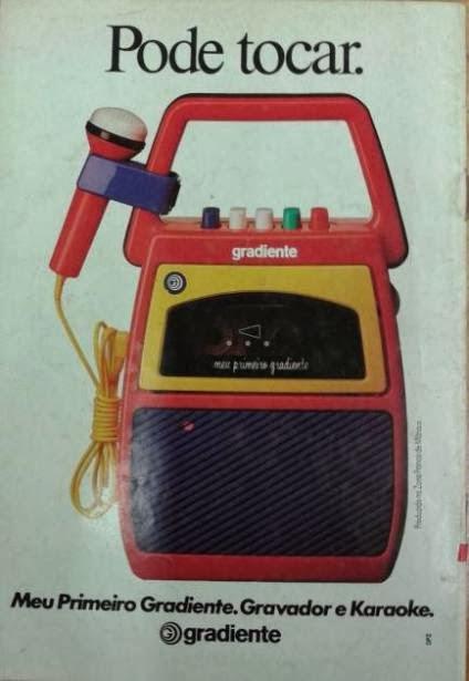 Meu Primeiro Gradiente, propaganda dos anos 90. Famoso gravador para as crianças.