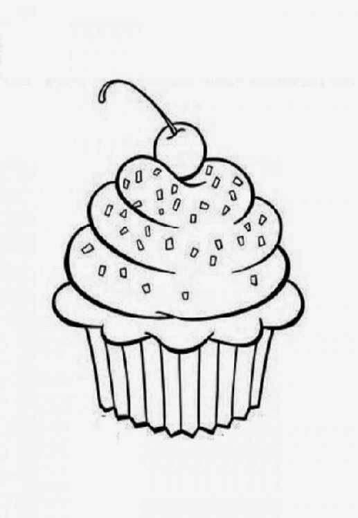 christmas cupcake coloring pages - photo#31