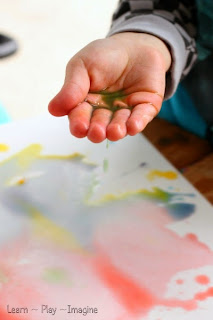 Painting with rain - Homemade watercolor paint recipe made as the rain falls