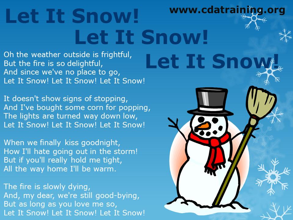 Child Care Basics Resource Blog: Let it Snow! Let it Snow! Let it ...