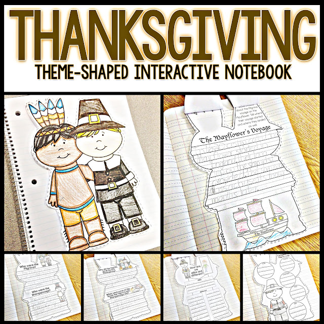 thanksgiving interactive notebook