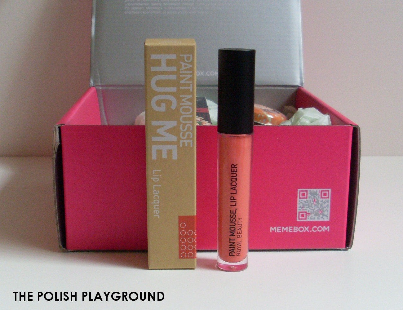 Memebox Superbox #49 All About Lips Unboxing - ROYAL NATURE Paint Mousse Lip Lacquer in 02 OR315 Hug Me