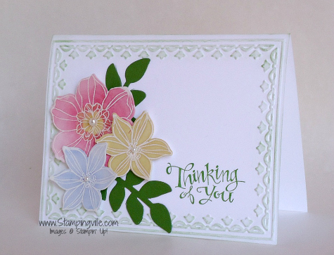 Stampin' Up! Secret Garden Stamp Set Card Idea