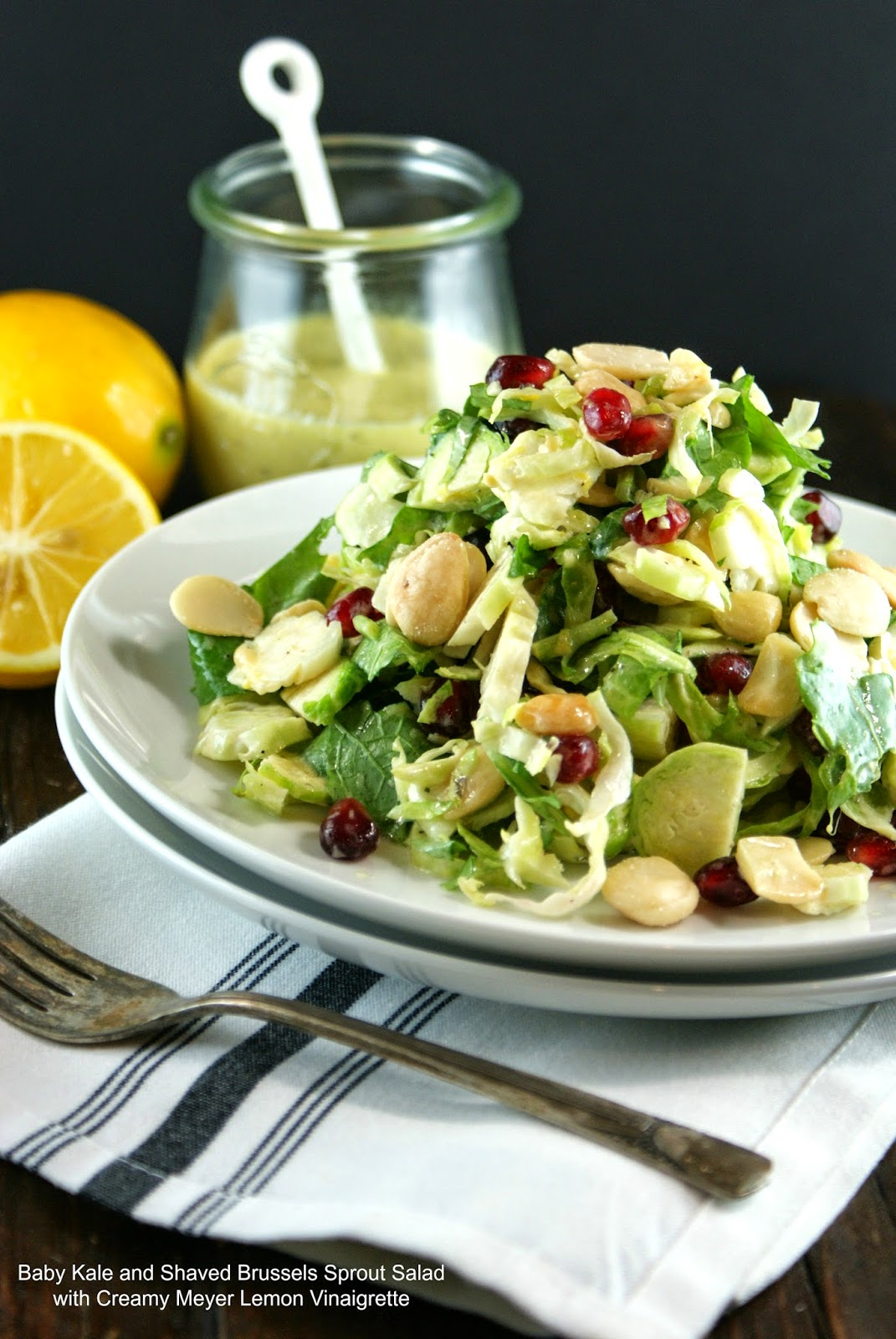 and Shaved Brussels Sprout Salad with Creamy Meyer Lemon Vinaigrette ...