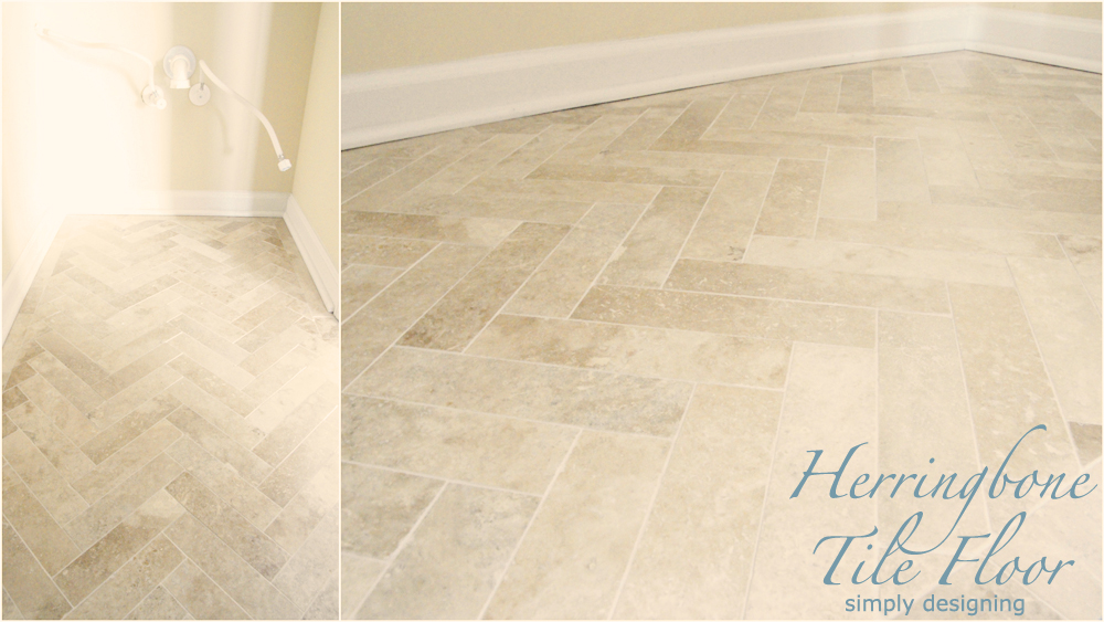 Herringbone Floor | a complete tutorial for laying tile flooring and herringbone tile flooring | #diy #herringbone #tile #tilefloors #thetileshop @thetileshop