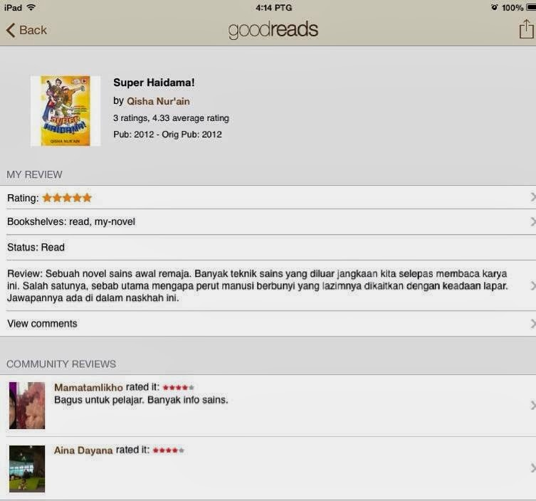 Review Pembaca(GOODREADS)
