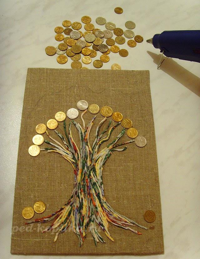 Поделка из монет своими руками дерево