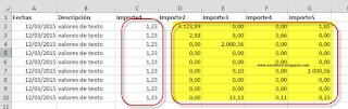 Convertir Números como texto a números (puntos por comas).