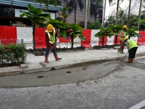 Gambar PALSU Kereta Masuk Lubang Di Jalan Bukit Bintang!!