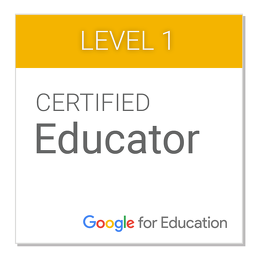 I am a Google Certified Educatir!