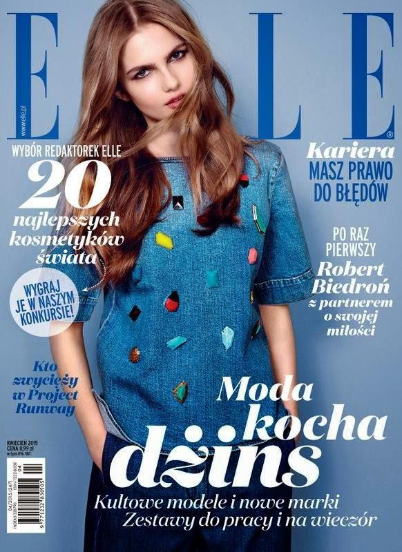 Model @ Aneta Pajak - Elle Poland April 2015