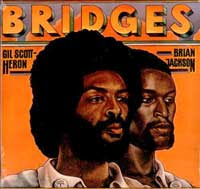 Cover the album Bridges with a painting of Scott-Heron and Jackson