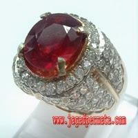 Batu Permata Ruby Cincin Perak