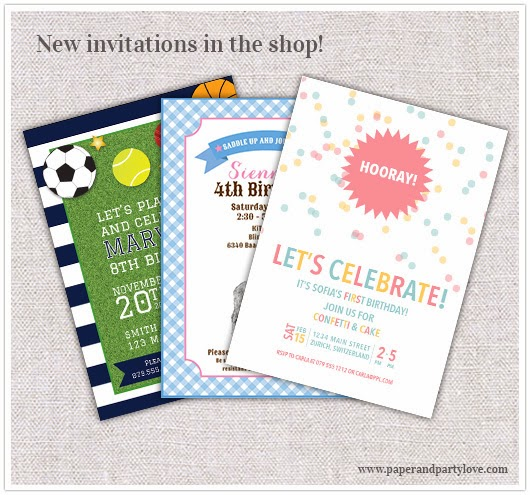 new printable invitations sports horse confetti theme
