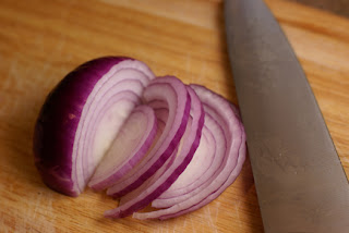 Raw Onion Slices