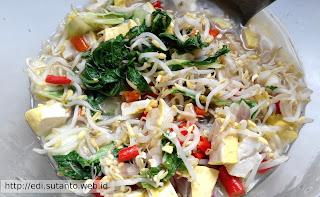 Sayur Toge Tahu Menggunakan Rice Cooker