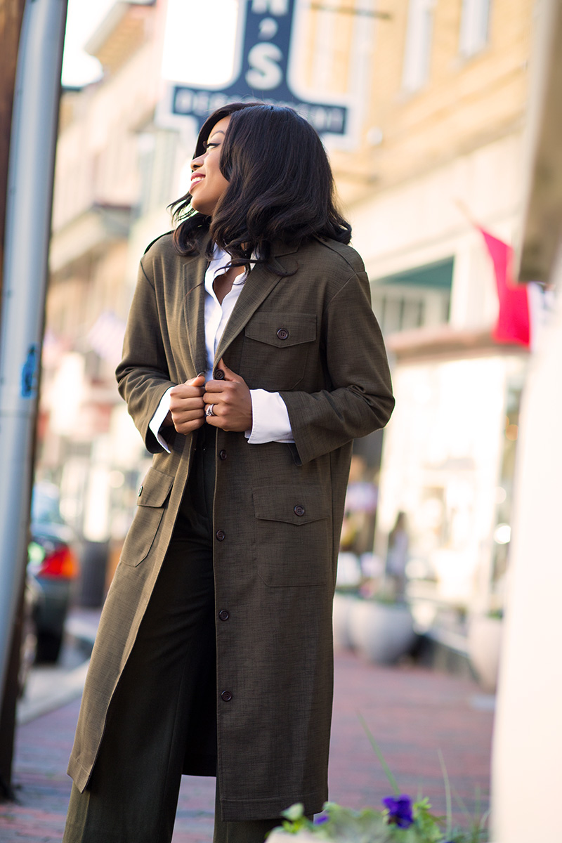 Military maxi blazer,  www.jadore-fashion.com