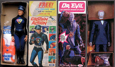 Ideal's Captain Action Figures - Captain Action & Dr. Evil
