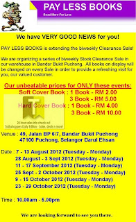 Pay Less Books Stock Clearance Sale 2012