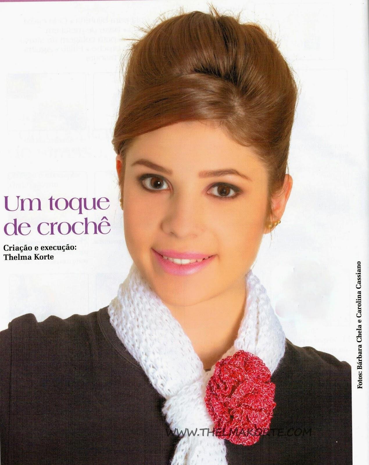 RECEITA DE BROCHE EM CROCHE