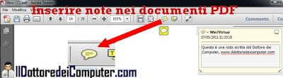 inserire note documenti PDF