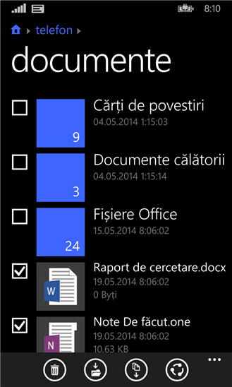manager fisiere windows phone 8.1