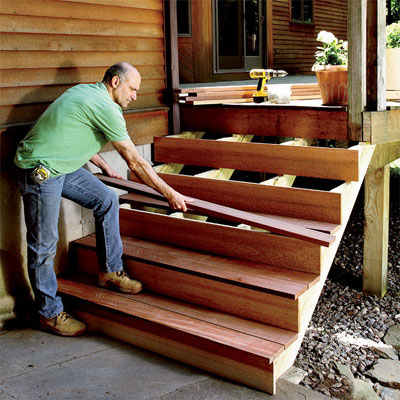 Patio deck railing design how to build outdoor stairs for Steps to building a new home