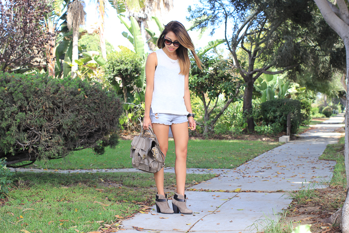 LnA Coronado Tank, Rag&Bone Harrow boots, PS1 Medium Smoke, Prada Poeme Sunglasses, beautybitten
