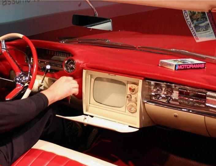 1959 Cadillac with a TV set ~