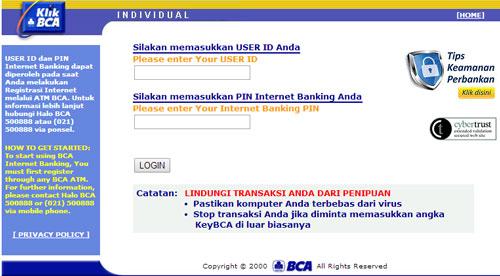 Website Internet Banking Klik BCA Cara Daftar Internet Banking BCA Dengan Mudah