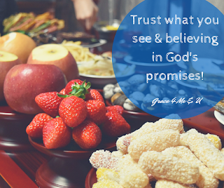 Sometimes as adults we hear God's promises but we doubt his goodness. Even when God gives us what He promised, we still doubt. Check out this post for a reminder to trust in what you can see. | Grace 4 Me & U