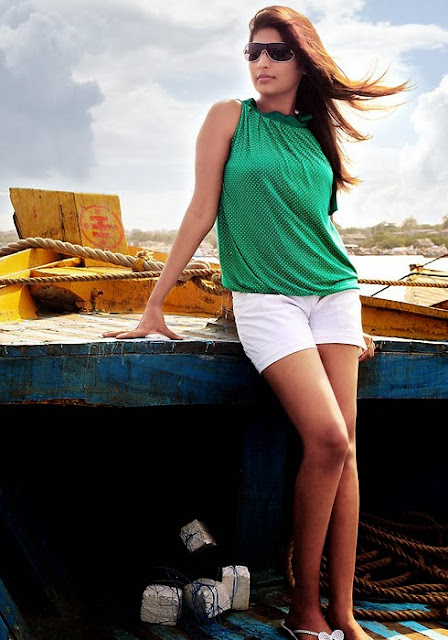 Vijaya Lakshmi In Green Top