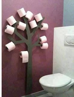 Creative Toilet Paper Tree