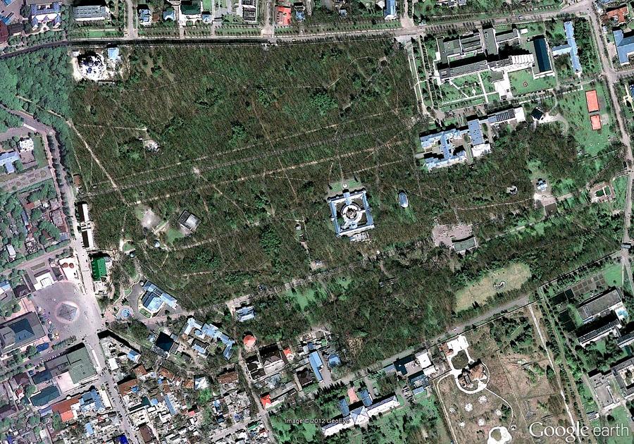 Курортный парк Ессентуков (аэрофотосъёмка)